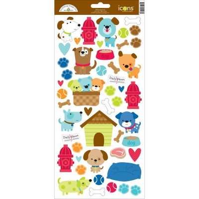 Puppy Love Cardstock Stickers 6