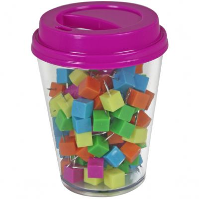 Coffee Cup Storage With Push Pins 120/Pkg Assorted - TPG-850