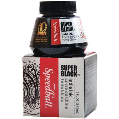 Speedball Super Black India Ink 2Oz - SB3338
