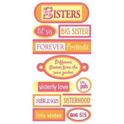 Sandylion Essentials Dimensional Stickers Sisters - PESL-165
