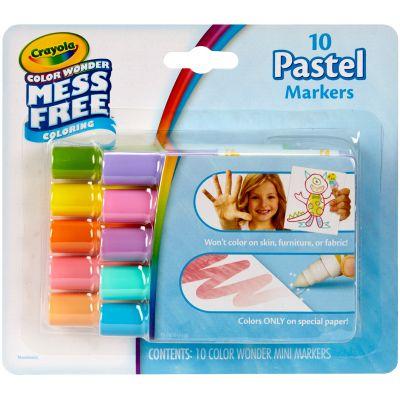 Crayola Color Wonder Mini Markers 10/Pkg Pastels - 75-2470