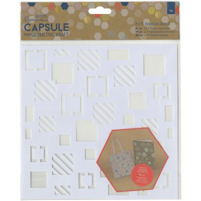 Papermania Geometric Kraft Adhesive Stencil 8