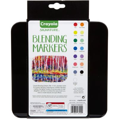 Crayola Signature Blending Markers W/Tin Assorted Colors 14/Pkg - 58-6502