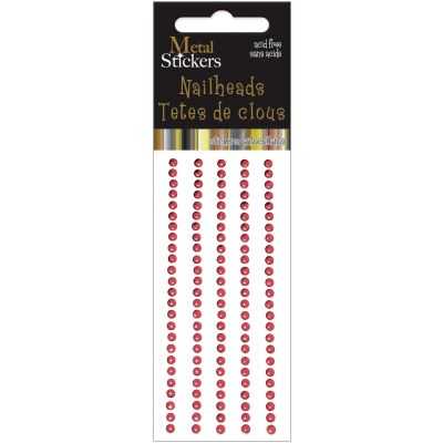 Metal Stickers Nailheads 3Mm Round 125/Pkg Red - MS3MM-3864