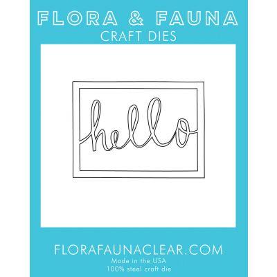 Flora & Fauna Dies Hello Rectangle - FF39051