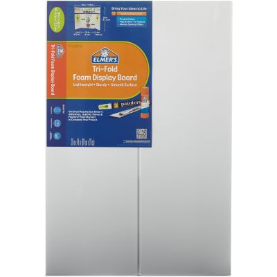 Elmer's Tri-Fold Premium Foam Display Board 36