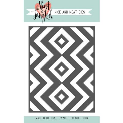Neat & Tangled Die Squares & Chevrons Cover Plate - NAT363