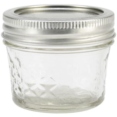 Ball(R) Quilted Crystal Jelly Jar 1/4 Pint, 4Oz - 80400