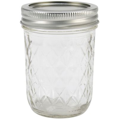 Ball(R) Quilted Crystal Jelly Jar 1/2 Pint, 8 Oz - 81200