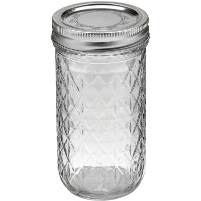 Ball(R) Quilted Crystal Jelly Jar 3/4 Pint, 12Oz - 81400