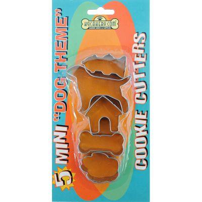 Cookie Cutters 5/Pkg Mini Dog Theme - 84410