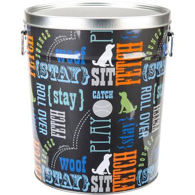 Tin Pet Food Container 10.25