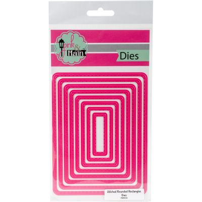 Pink & Main Dies Stitched Rounded Rectangles, 8/Pkg - PNM033