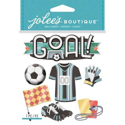 Jolee'S Boutique Dimensional Stickers Soccer - E5021958