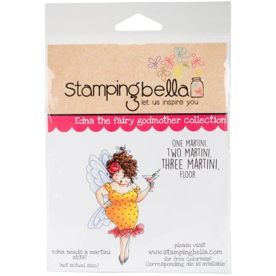 Stamping Bella Cling Stamps Edna Needs A Martini - EB397