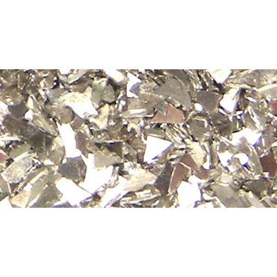 Iced Enamels German Glass Glitter .5Oz Silver - SLKGG-12751