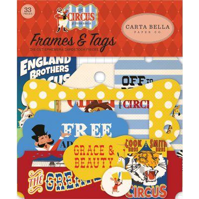 Circus Ephemera Cardstock Die-Cuts 33/Pkg-Frames & Tags