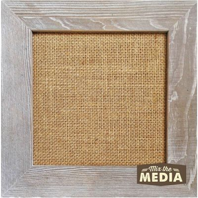 Jillibean Soup Mix The Media Wood Framed Burlap 10