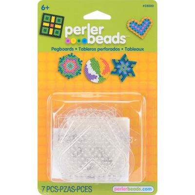 Perler Pegboards 5/Pkg Assorted Clear Shapes - 2800