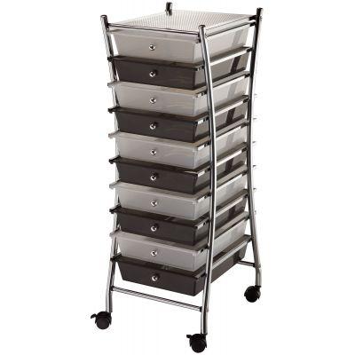 X Frame Storage Cart W/10 Drawers 13