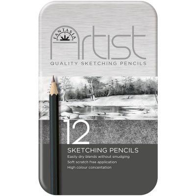 Fantasia Premium Sketching Pencil Set 12/Pkg  - 601020