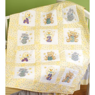 Janlynn Stamped Cross Stitch Quilt Blocks 9