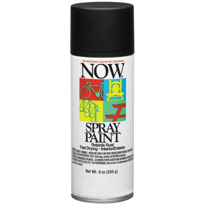 Now Aerosol Paint 9Oz Flat Black - NOW-21211