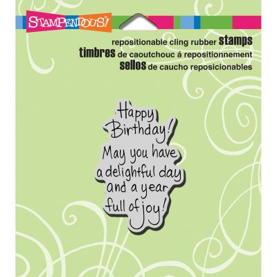 Stampendous Cling Stamp Delightful Birthday - CRH306