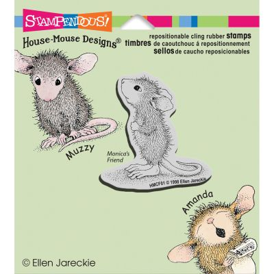 Stampendous Happyhopper Cling Stamp Hopeful Mouse - HMCF01