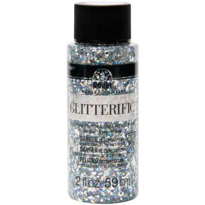 Folkart Glitterific Glitter Paint 2Oz Silver - GL-5876