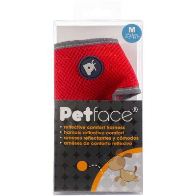Petface Reflective Comfort Harness Red Medium - PET30428