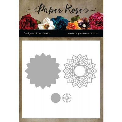 Paper Rose Dies Layered Mandala - PR17262