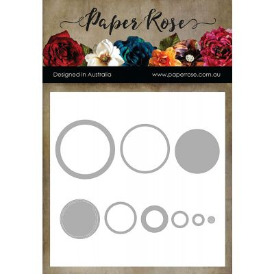 Paper Rose Dies Lots Of Circles - PR17265