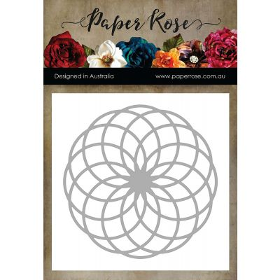 Paper Rose Dies Circlet Layered Background 1 - PR16808