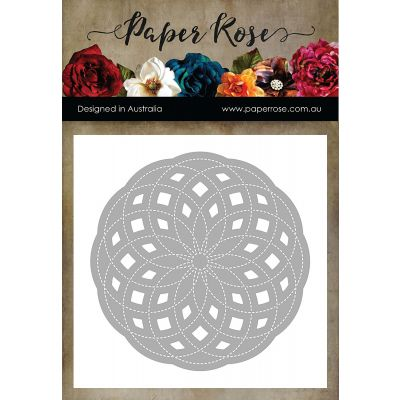 Paper Rose Dies Circlet Layered Background 3 - PR16814