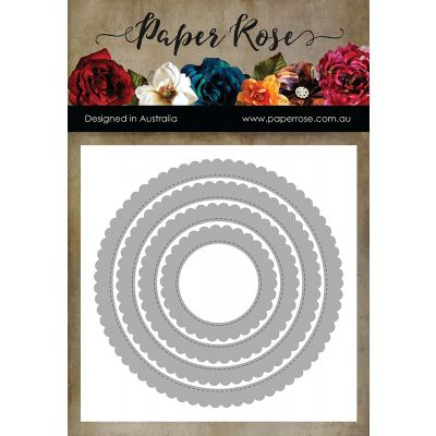 Paper Rose Dies Scalloped Circle Frames - PR16742
