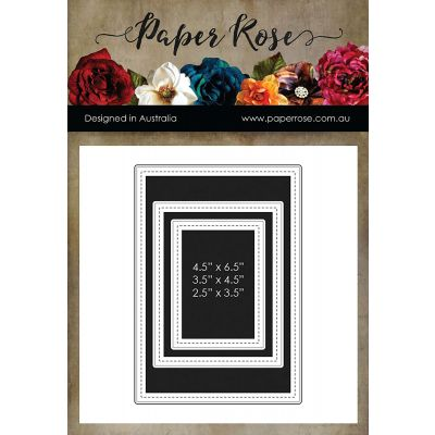 Paper Rose Dies Stitched Scrapbooking Set - PR16960
