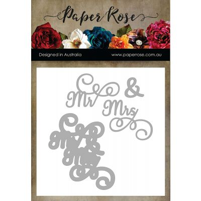 Paper Rose Dies Mr & Mrs - PR17379