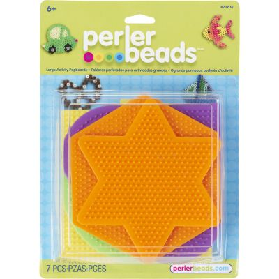 Perler Pegboards 5/Pkg Assorted Shapes & Colors - 22616