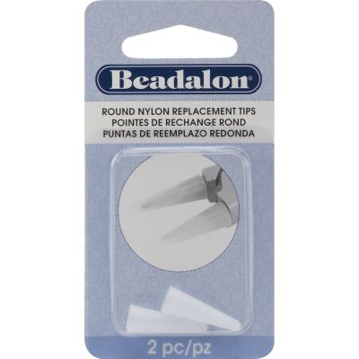 Nylon Round Nose Pliers Replacement Tips 2/Pkg .75