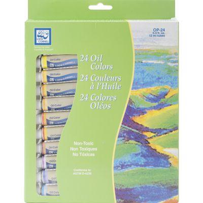 Oil Paints 12Ml 24/Pkg Assorted Colors - OP-24