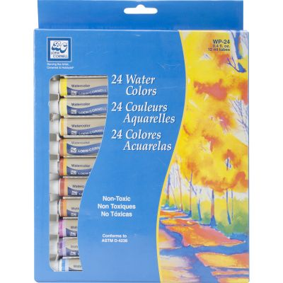 Watercolor Paints 12Ml 24/Pkg Assorted Colors - WP-24