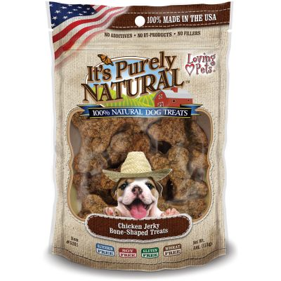 It'S Purely Natural Treats 4Oz Chicken Jerky Bone Shaped - LP5201