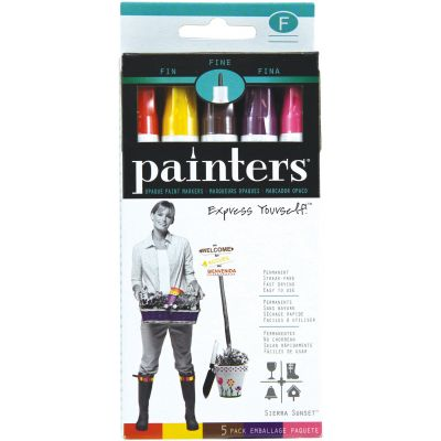 Elmer'S Painters (R) Opaque Paint Markers 5/Pkg Sierra Sunset  Fine Point - OPM-7521