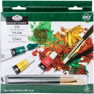 Essentials(Tm) Oil Paints 12Ml 20/Pkg Assorted Colors - OIL18