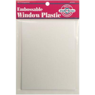 Judikins Embossable Window Plastic Sheets 4.25