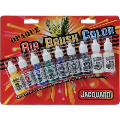 Jacquard Transparent Airbrush Exciter Pack .5Oz 9/Pkg  - JAC9937