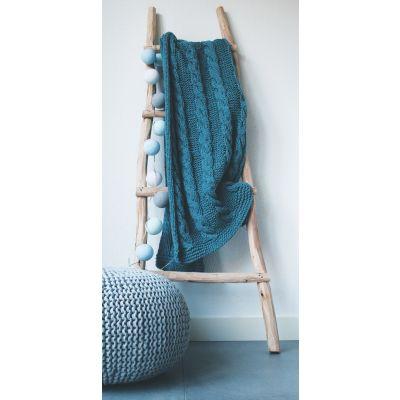 Hoooked Knit & Crochet Pouf Kit W/Zpagetti Yarn Sailor Blue - POUFKIT-16