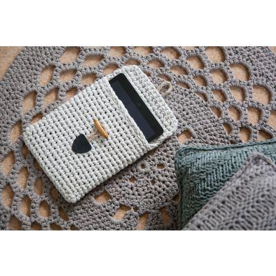 Hoooked Tablet Cover Yarn Kit W/Ribbonxl Sandy Ecru - COVERKIT-33