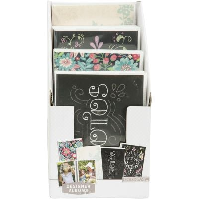 K&Company Floral & Chalk 1 Up Photo Albums 12/Pdq Display Holds (32) 4